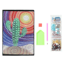Load image into Gallery viewer, DIY Cactus Special Shaped Diamond Painting 60 Pages A5 Notebook Diary Book