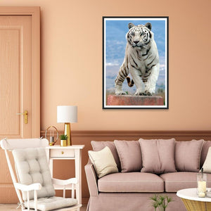Tiger 30x40cm(canvas) full round drill diamond painting