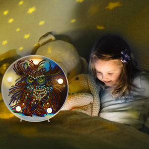 DIY Special-shaped Diamond Painting Light Bird Embroidery LED Night Lamp