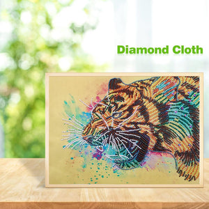 Animal 30x40cm(canvas) beautiful special shaped drill diamond painting