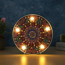Load image into Gallery viewer, Mandala DIY Special Shape Full Drill Diamond Painting LED Light Night Lamps