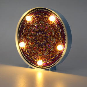 DIY Special Drill LED Diamond Painting Light Mandala Embroidery Round Lamps