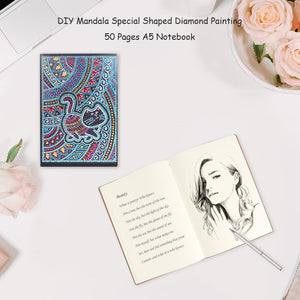 DIY Cat Special Shaped Diamond Painting 50 Pages A5 Notebook Sketchbook