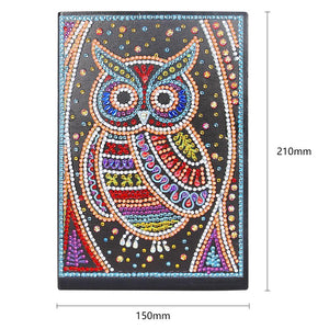 DIY Owl Special Shaped Diamond Painting 50 Pages A5 Notebook Notepad Gifts