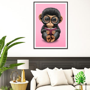 Monkey 30x40cm(canvas) full round drill diamond painting