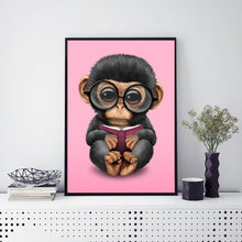 Load image into Gallery viewer, Monkey 30x40cm(canvas) full round drill diamond painting