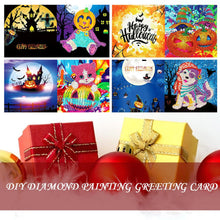 Load image into Gallery viewer, 5D DIY Diamond Painting Greeting Card Special Shape Birthday Halloween Gift