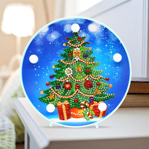 DIY LED Special Shaped Diamond Painting Christmas Tree Decorative Lights