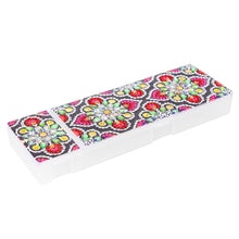 Load image into Gallery viewer, DIY Mandala Special Shaped Diamond Painting Students Pencil Storage Case