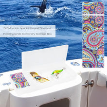 Load image into Gallery viewer, DIY Mandala Special Shaped Diamond Painting 2 Grids Pencil Storage Box Gift