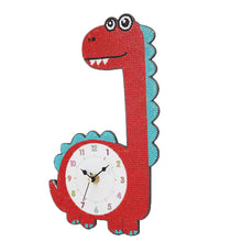 Load image into Gallery viewer, DIY Dinosaur Full Drill Diamond Painting Cross Stitch Clock Kids Room Decor