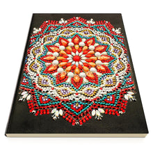 Load image into Gallery viewer, DIY Mandala Special Shaped Diamond Painting 50 Pages A5 Notebook Sketchbook