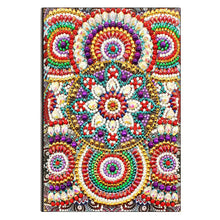 Load image into Gallery viewer, DIY Mandala Special Shaped Diamond Painting 50 Pages A5 Diary Book Notebook