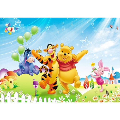 Winnie the Pooh 30x40cm(canvas) full round drill diamond painting