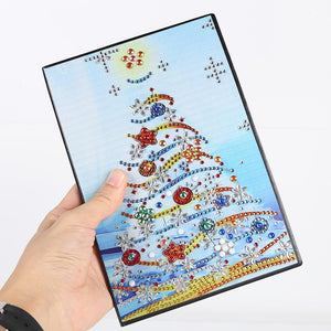 DIY Christmas Tree Special Shaped Diamond Painting 60 Pages A5 Notebook