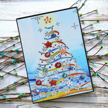 Load image into Gallery viewer, DIY Christmas Tree Special Shaped Diamond Painting 60 Pages A5 Notebook