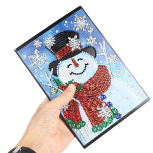 DIY Christmas Snowman Special Shaped Diamond Painting 60 Pages A5 Notebook