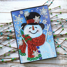 Load image into Gallery viewer, DIY Christmas Snowman Special Shaped Diamond Painting 60 Pages A5 Notebook