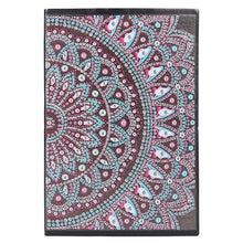 Load image into Gallery viewer, DIY Mandala Special Shaped Diamond Painting 50 Pages Notepad A5 Sketchbook