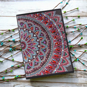 DIY Mandala Special Shaped Diamond Painting 50 Pages Notepad A5 Sketchbook
