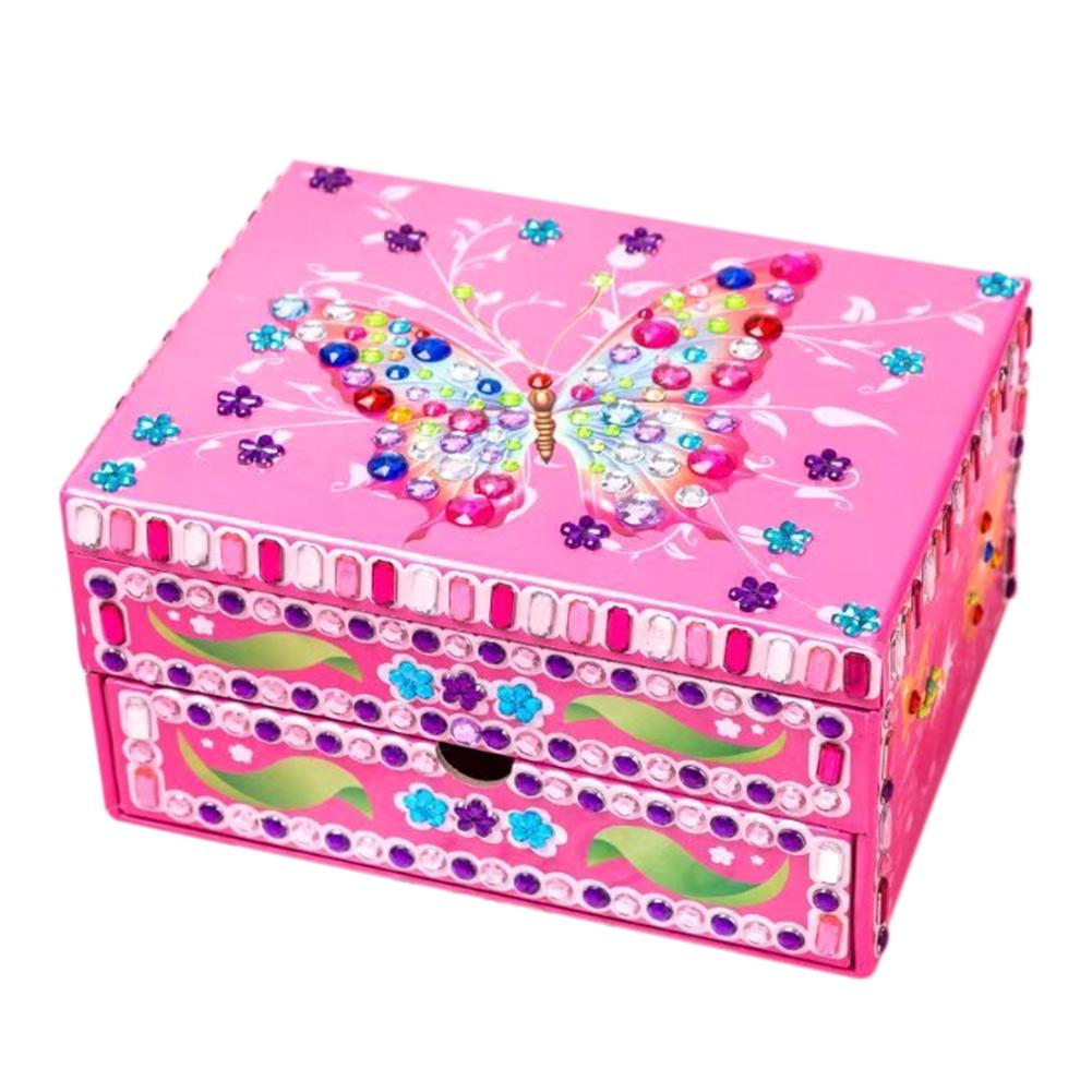 DIY Special Shaped Diamond Painting Butterfly Pattern Jewelry Storage Box