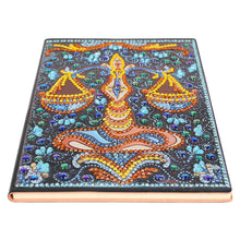 Load image into Gallery viewer, DIY Libra Special Shaped Diamond Painting 50 Pages A5 Notebook Sketchbook