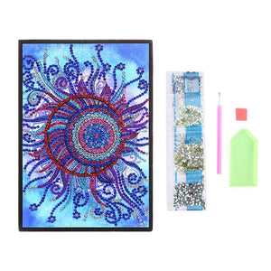 DIY Flower Special Shaped Diamond Painting 50 Pages A5 Sketchbook Notebook