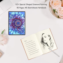 Load image into Gallery viewer, DIY Flower Special Shaped Diamond Painting 50 Pages A5 Sketchbook Notebook