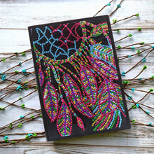 Load image into Gallery viewer, DIY Dreamcatcher Special Shaped Diamond Painting 50 Pages A5 Sketchbook