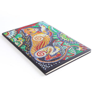 DIY Leopard Special Shaped Diamond Painting 50 Pages A5 Sketchbook Notebook
