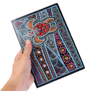 DIY Tortoise Special Shaped Diamond Painting 50 Page A5 Notebook Sketchbook