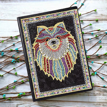 Load image into Gallery viewer, DIY Bear Special Shaped Diamond Painting 50 Pages A5 Sketchbook Notebook