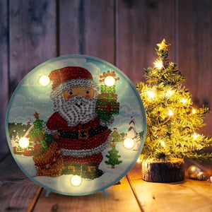 DIY Diamond Painting LED Lamp Partial Drill Special Shape Christmas Decor