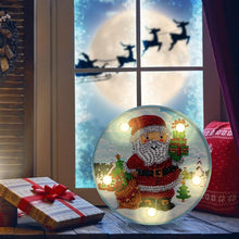 Load image into Gallery viewer, DIY Diamond Painting LED Lamp Partial Drill Special Shape Christmas Decor