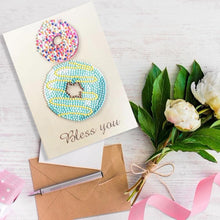 Load image into Gallery viewer, Diamond Painting Greeting Card Doughnut Print Birthday Valentine Bless Gift
