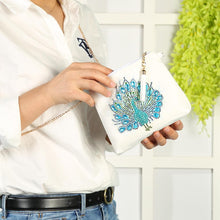 Load image into Gallery viewer, DIY Peafowl Special Shaped Diamond Painting Leather Chain Crossbody Bags