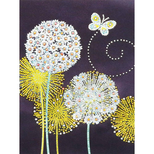Dandelion 30x40cm(canvas) beautiful special shaped drill diamond painting