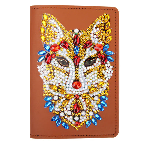 DIY Special Shape Diamond Painting Travel Leather Passport Protection Cover