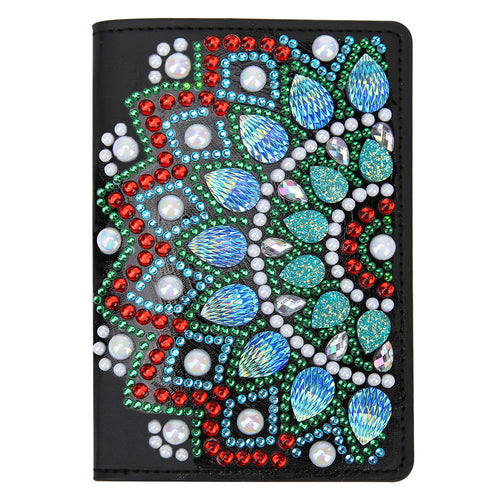 DIY Special Shaped Diamond Painting Leather Passport Protection Cover Gift