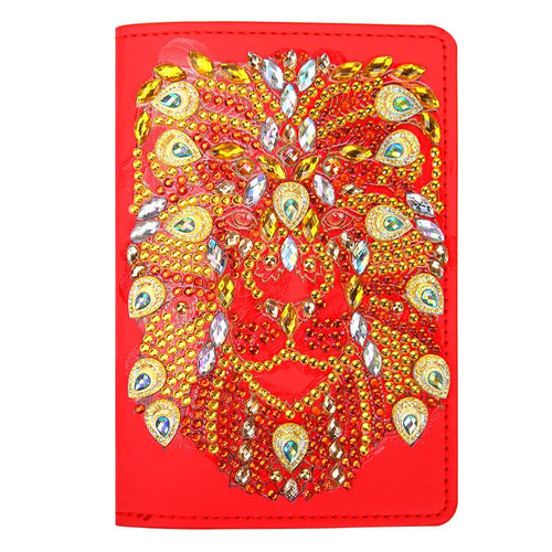 DIY Special Shaped Diamond Painting PU Leather Passport Protective Cover