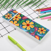 Load image into Gallery viewer, DIY Flower Special Shaped Diamond Painting 2 Grids Pencil Case Storage Box