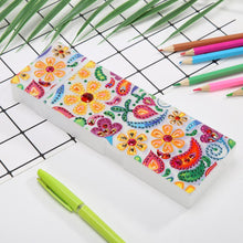 Load image into Gallery viewer, DIY Flower Special Shaped Diamond Painting 2 Grids Students Pencil Case