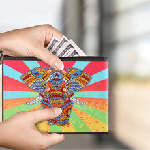 Load image into Gallery viewer, DIY Elephant Special Shaped Diamond Painting Wristlet Clutch Zipper Wallet