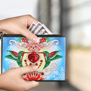 DIY Magpie Special Shaped Diamond Painting Wristlet Clutch Women Wallet
