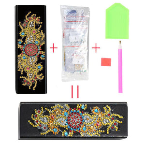 DIY Diamond Painting Leather Sunglasses Box Portable Glasses Storage Case