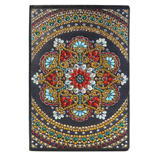 Load image into Gallery viewer, DIY Mandala Special Shaped Diamond Painting 50 Pages A5 Notepad Sketchbook