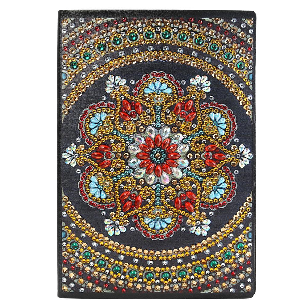 DIY Mandala Special Shaped Diamond Painting 50 Pages A5 Notepad Sketchbook