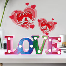Load image into Gallery viewer, Love Shape LED Night Lamp DIY Diamond Painting Special Shape Partial Drill