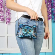 Load image into Gallery viewer, DIY Owl Special Shaped Diamond Painting Women Leather Chain Crossbody Bags