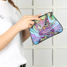 Load image into Gallery viewer, DIY Owl Special Shaped Diamond Painting Leather Crossbody Bags Chain Clutch
